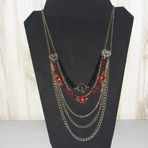 Jewelry - Multi strand beaded chain necklace
